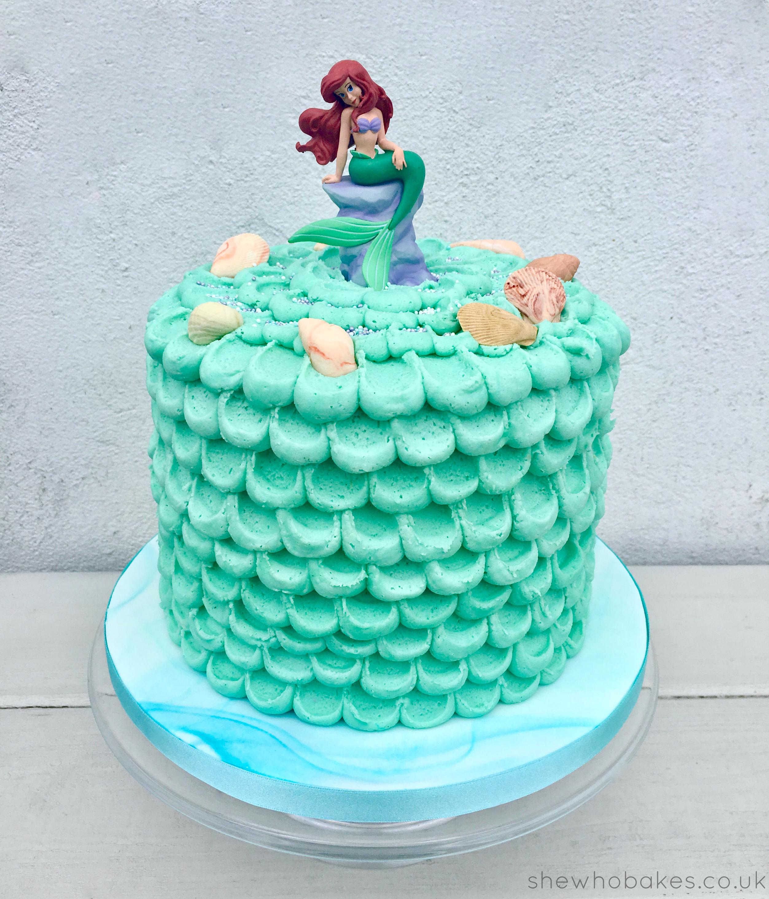 Mermaid First Birthday Cake
