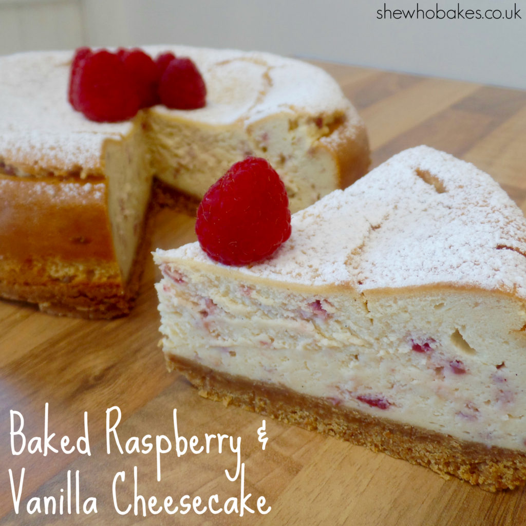 Baked Raspberry & Vanilla Cheesecake by She Who Bakes