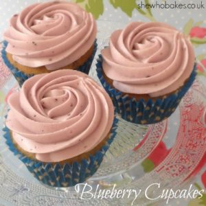 Blueberry Cupcakes by She Who Bakes
