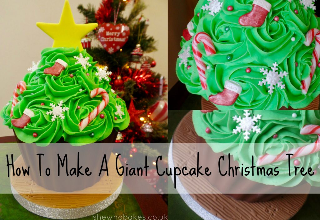 How To Make A Giant Cupcake Christmas Tree She Who Bakes