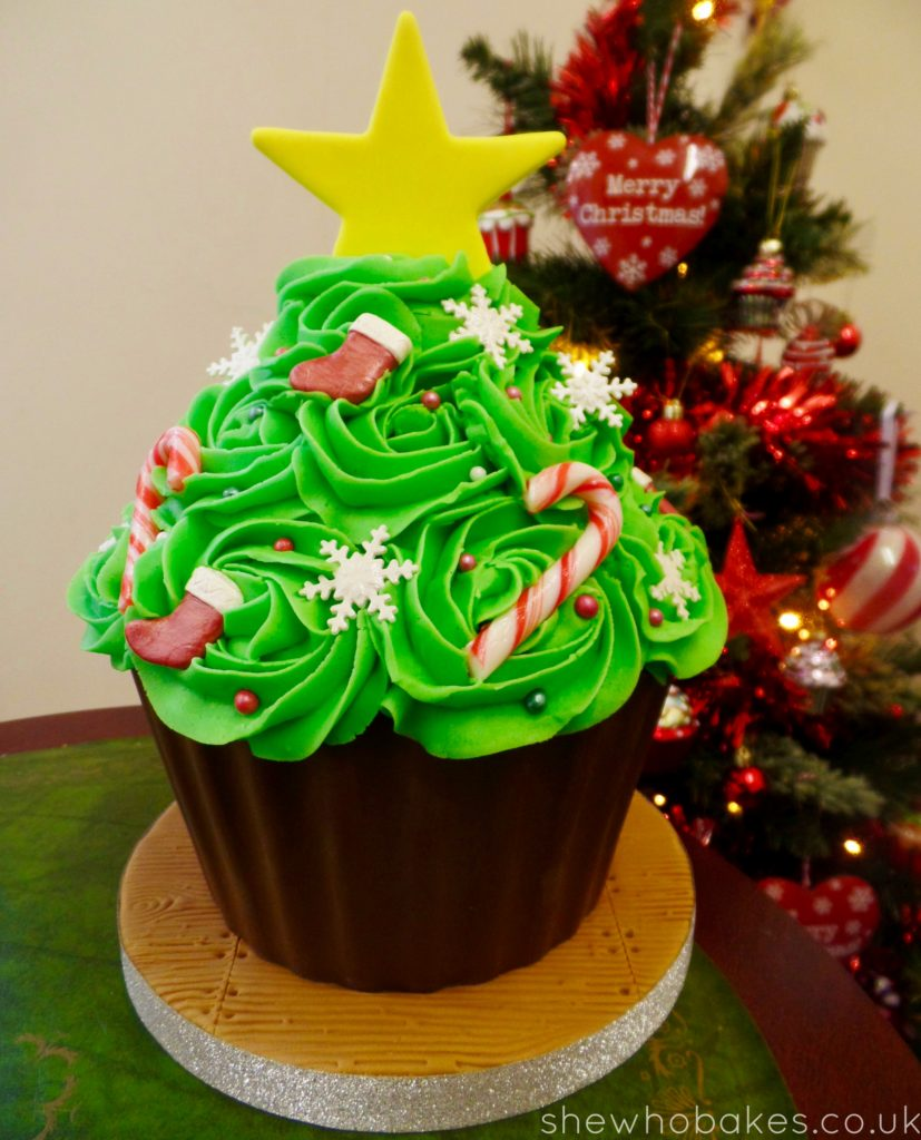 Giant Cupcake Christmas Tree by She Who Bakes