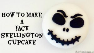 How To Make A Jack Skellington Cupcake For Halloween by She Who Bakes