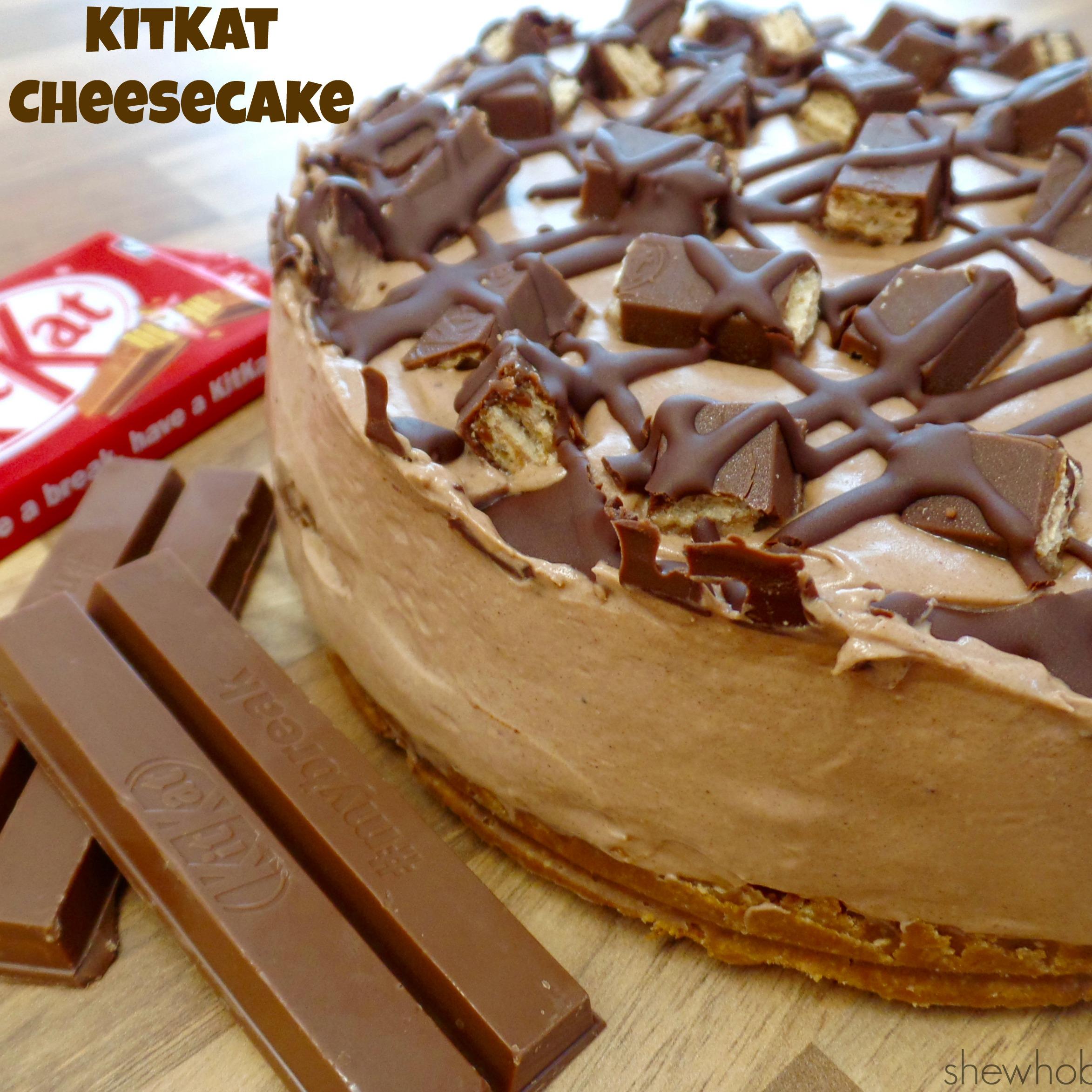 Kitkat Cheesecake She Who Bakes