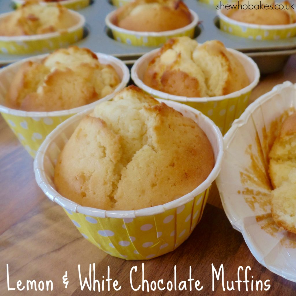 Lemon & White Chocolate Muffins Recipe by She Who Bakes