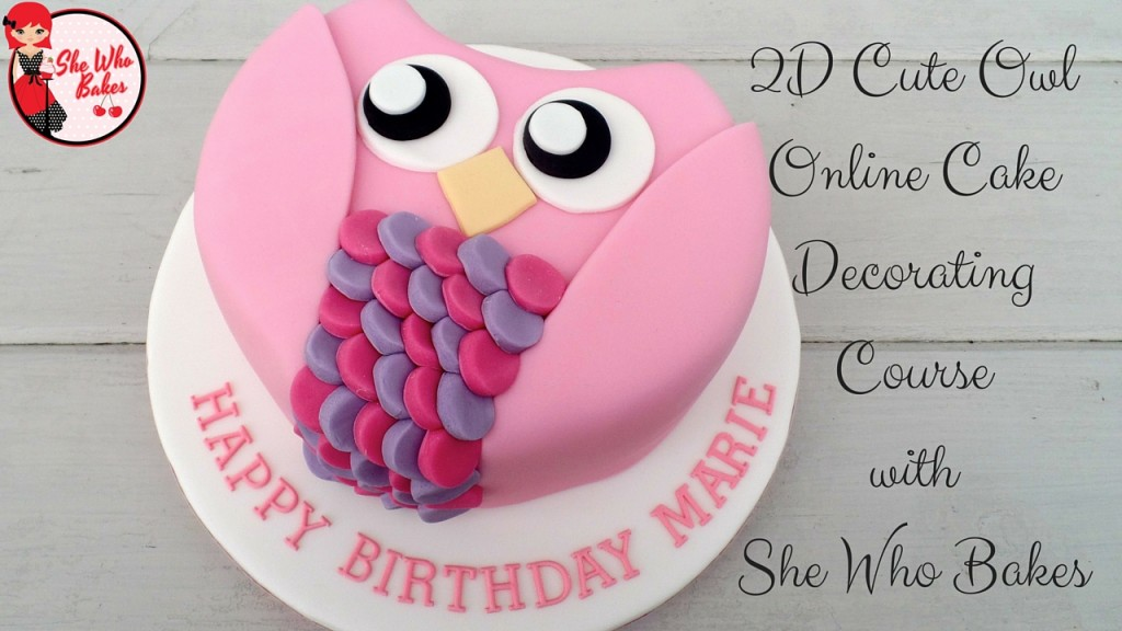 2D Carved Owl Cake Online Class