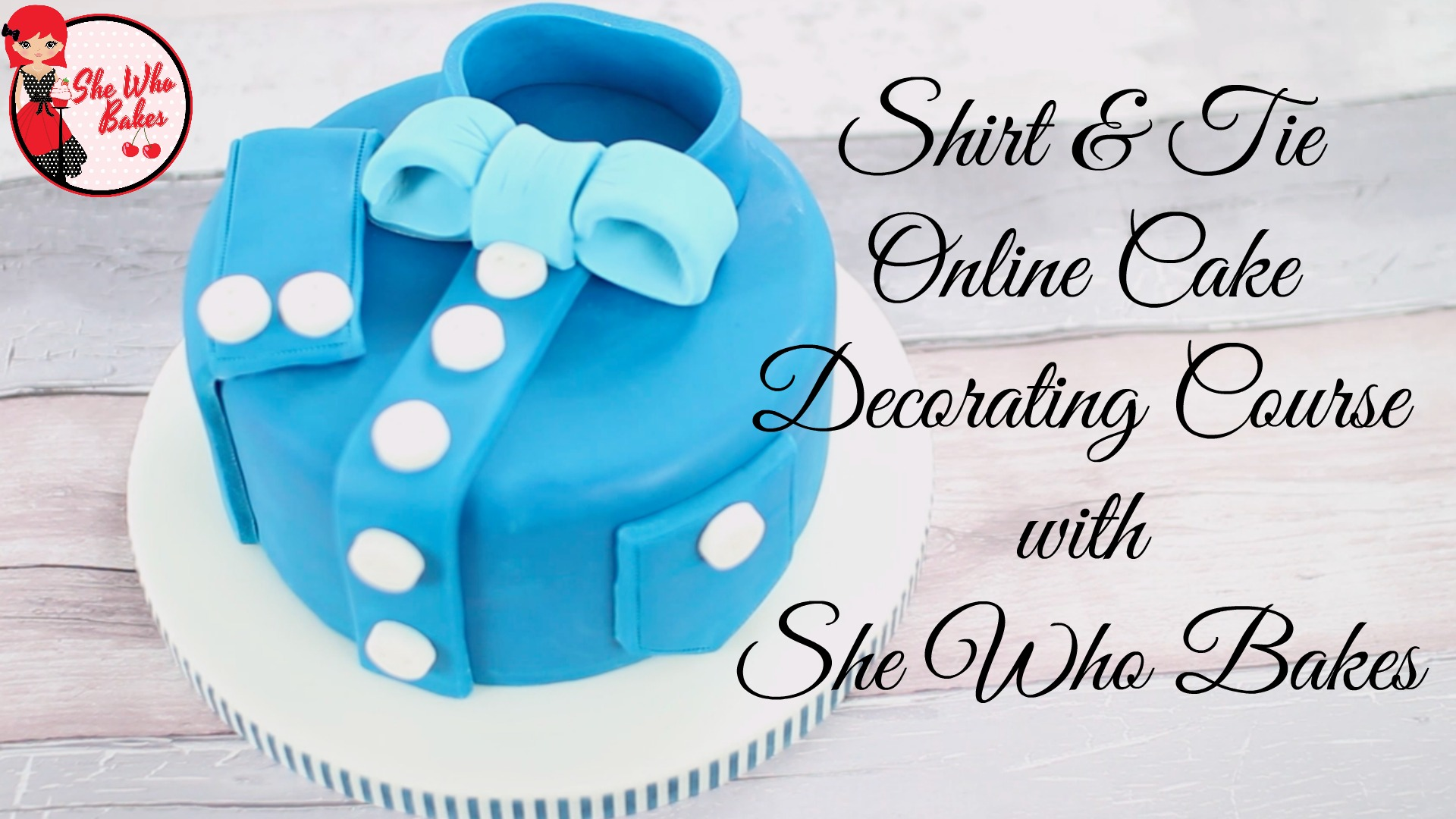 Shirt & Tie Online Cake Decorating Course