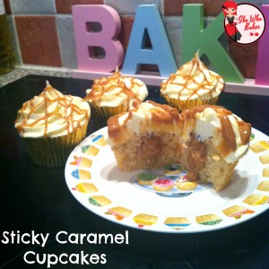 Sticky Caramel Cupcakes