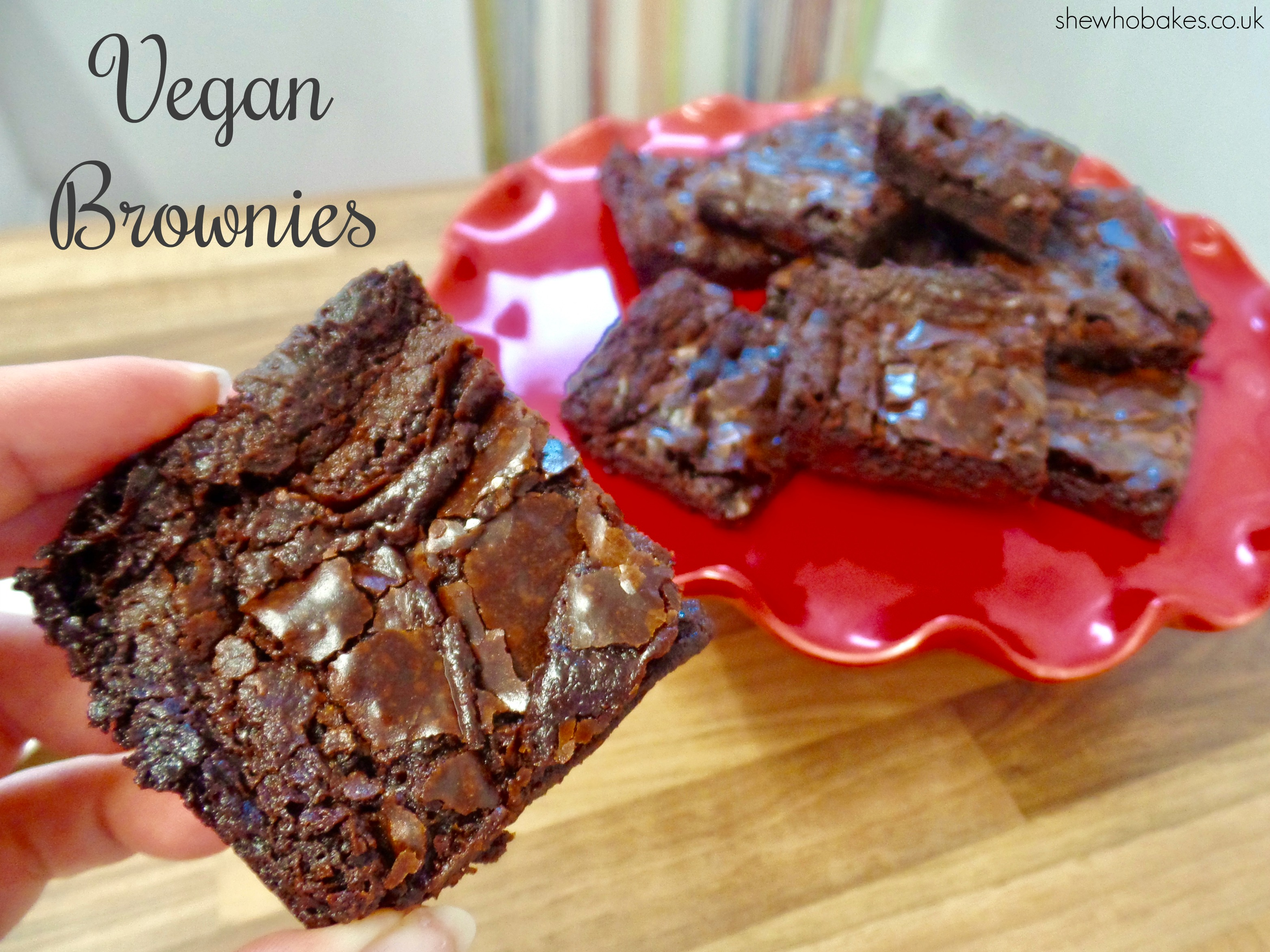 Vegan Chocolate Brownies She Who Bakes