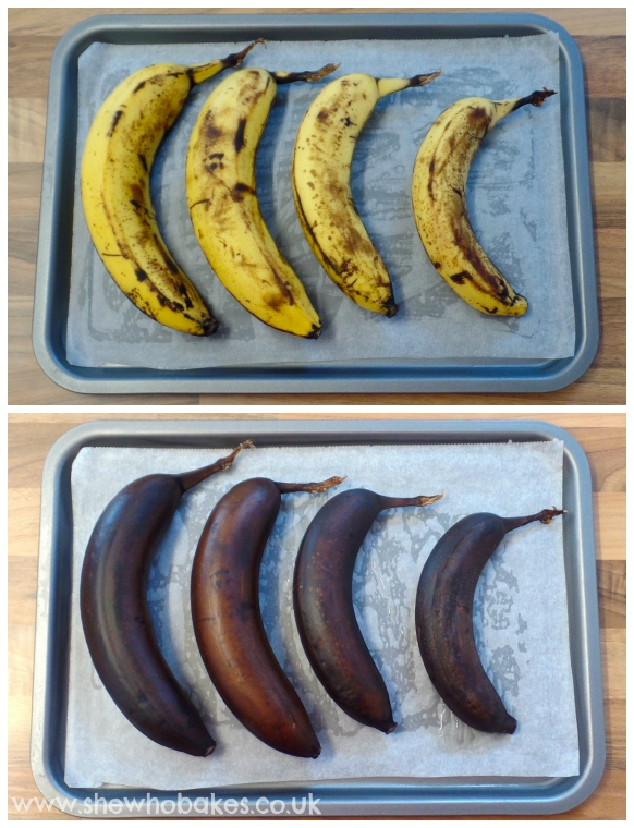 Baking bananas