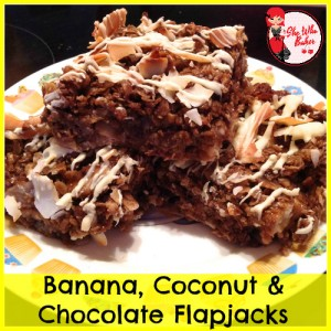 banana coconut flapjacks