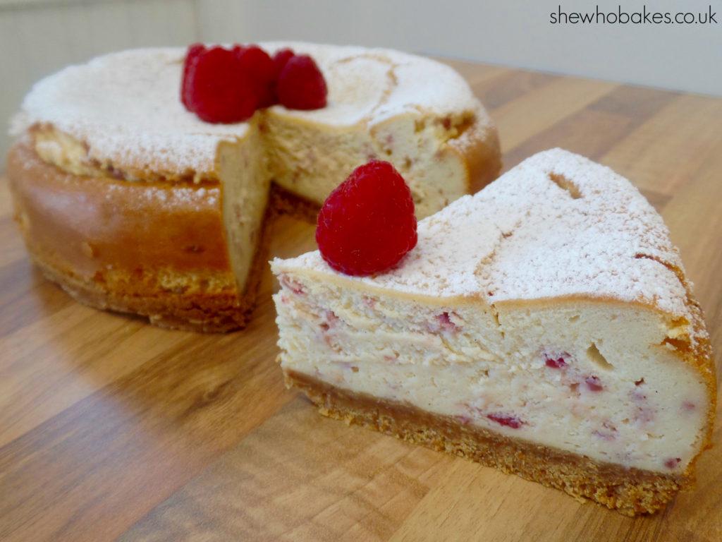 Baked Raspberry & Vanilla Cheesecake by She Who Bakes