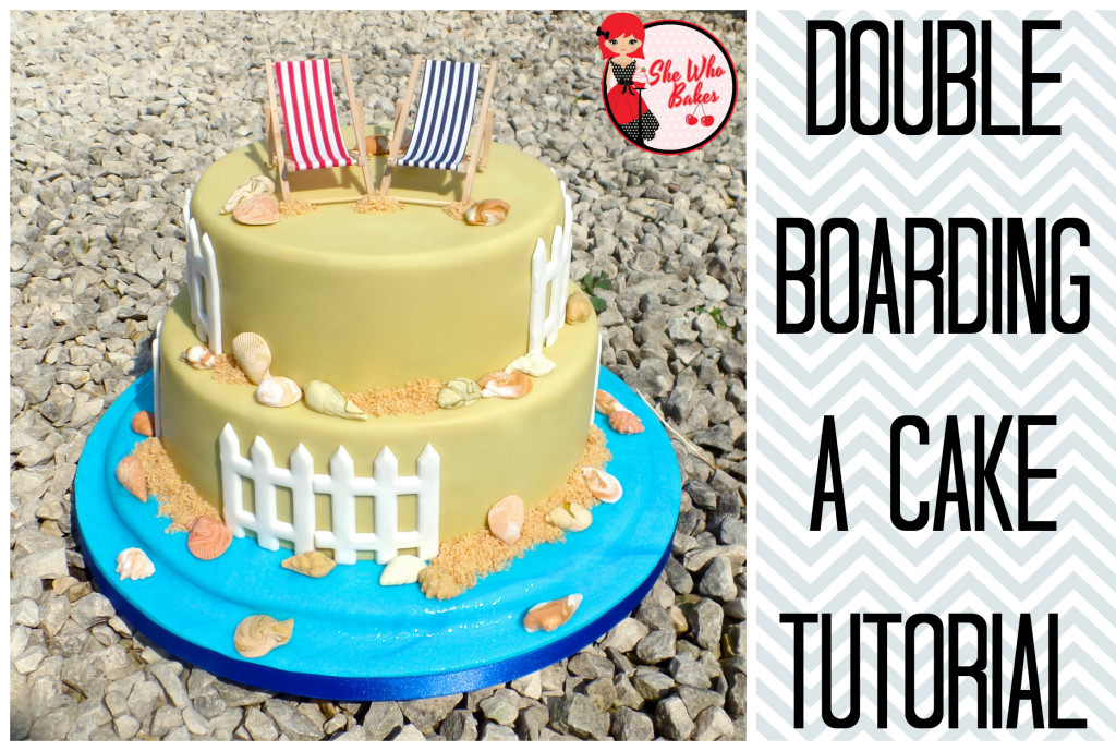 Double Boarding a Cake Tutorial - She Who Bakes