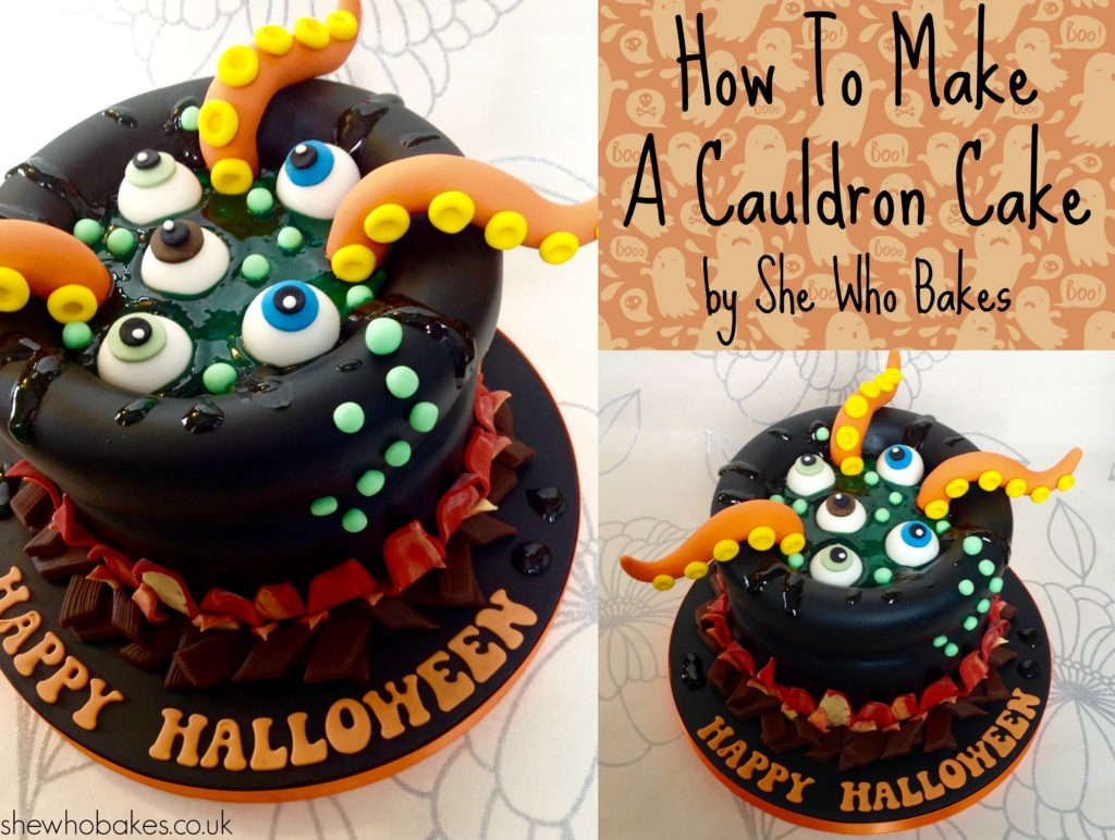 How To Make A Cauldron Cake For Halloween She Who Bakes
