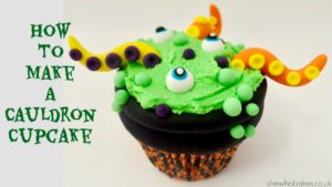 How To Make A Cauldron Cupcake For Halloween by She Who Bakes