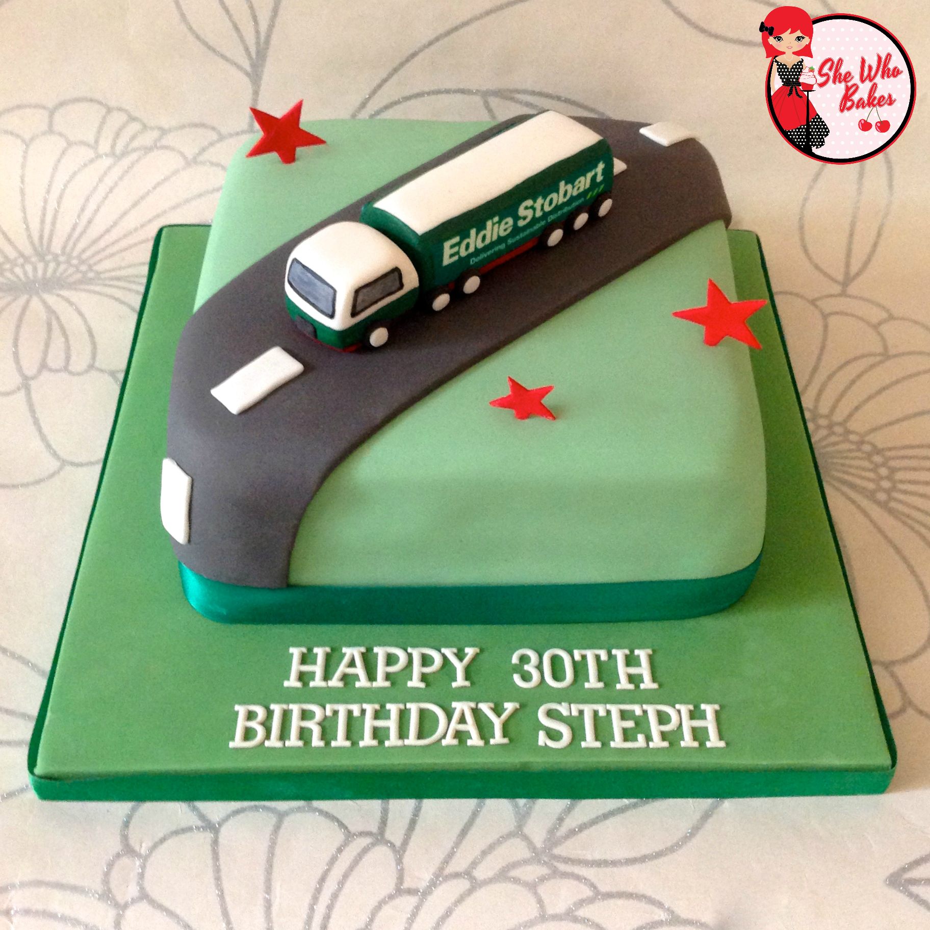 Eddie Stobart Birthday Cake