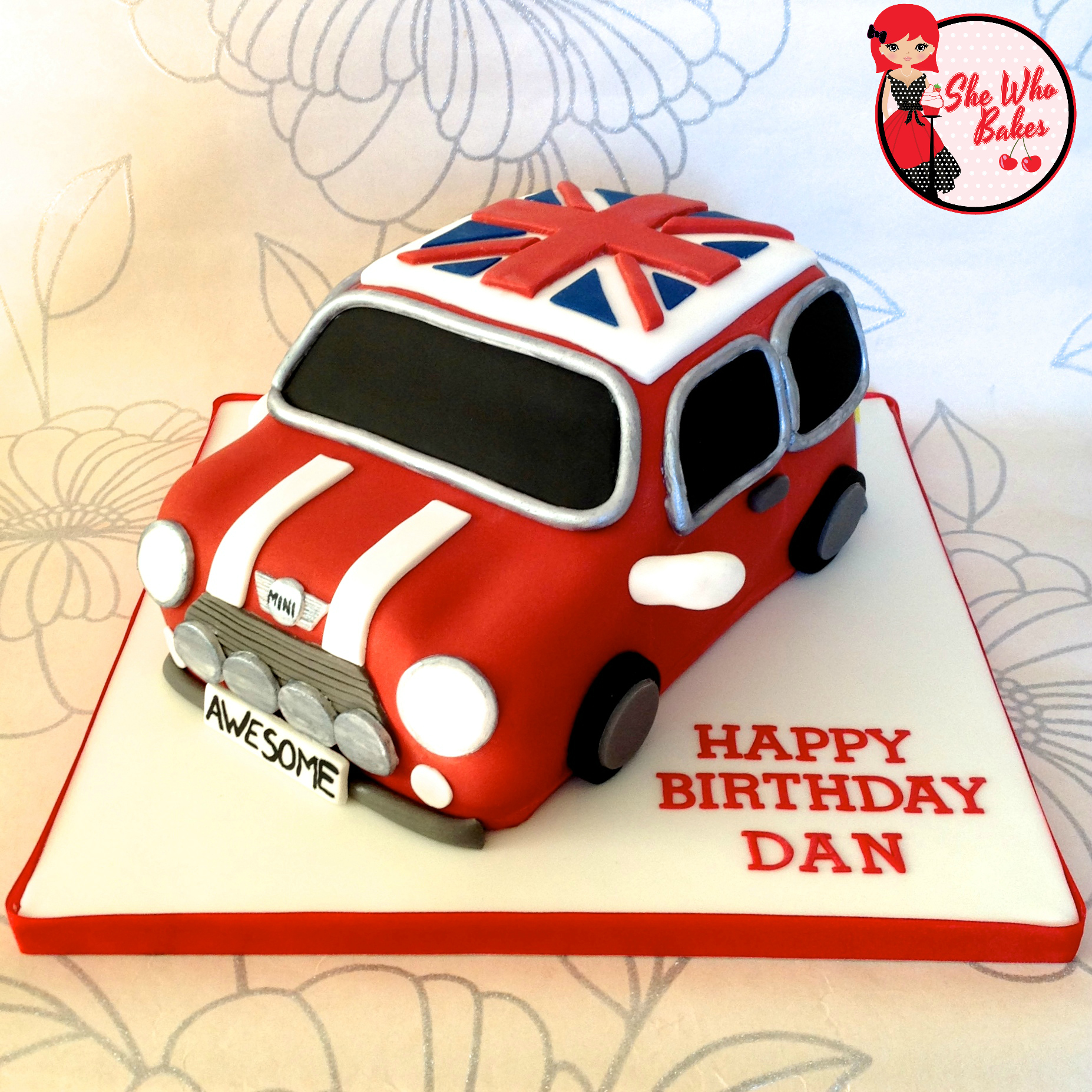 How To Make A Car Cake Mini Cooper She Who Bakes