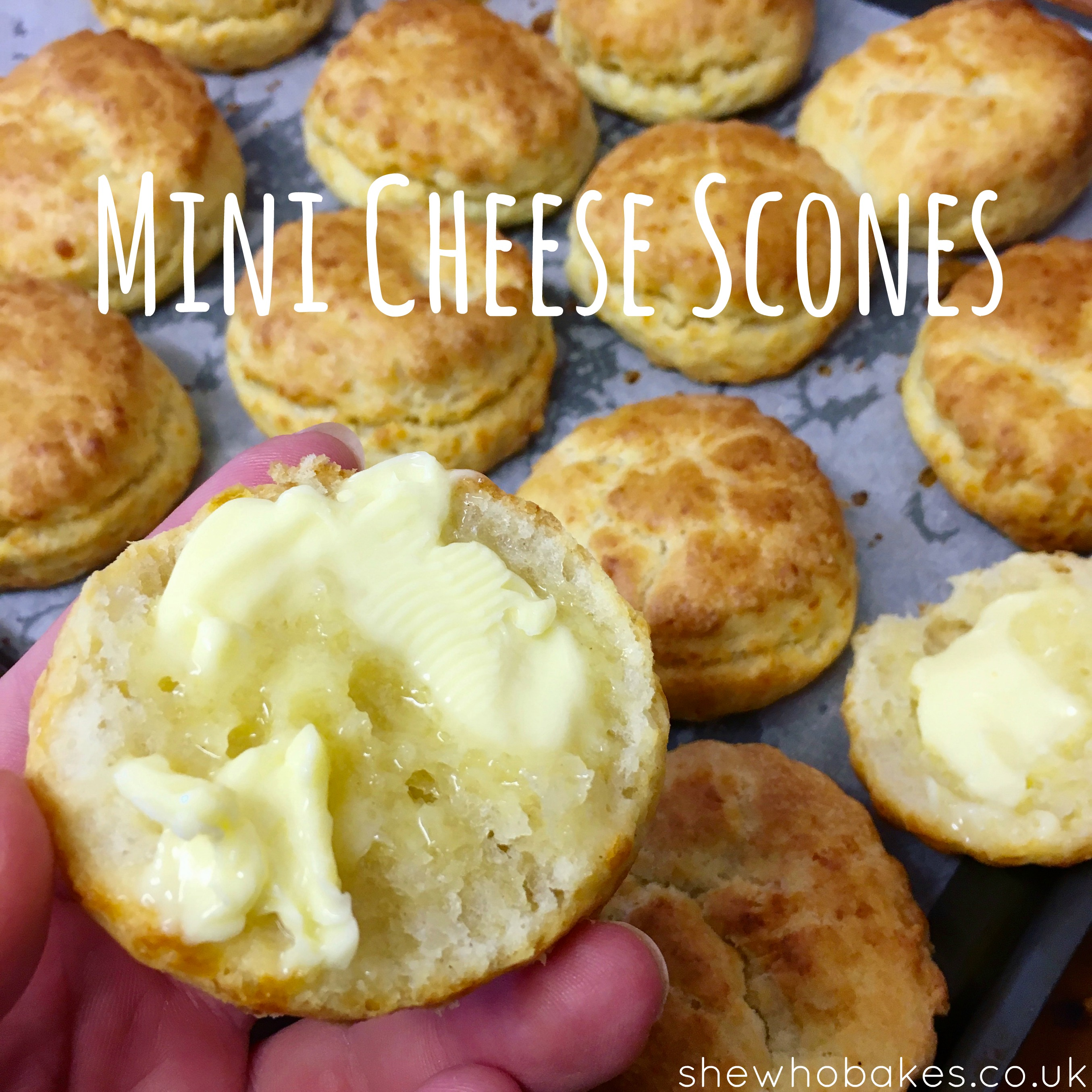 Mini Cheese Scones by She Who Bakes