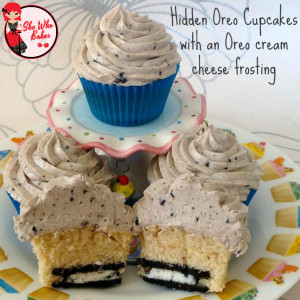 Oreo Cupcakes with an Oreo Cream Cheese Frosting