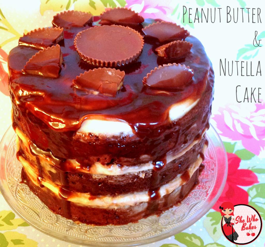 Peanut Butter & Nutella Cake