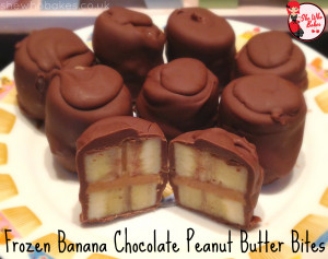 frozen banana chocolate peanut butter bites