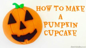 How To Make A Pumpkin Cupcake For Halloween by She Who Bakes