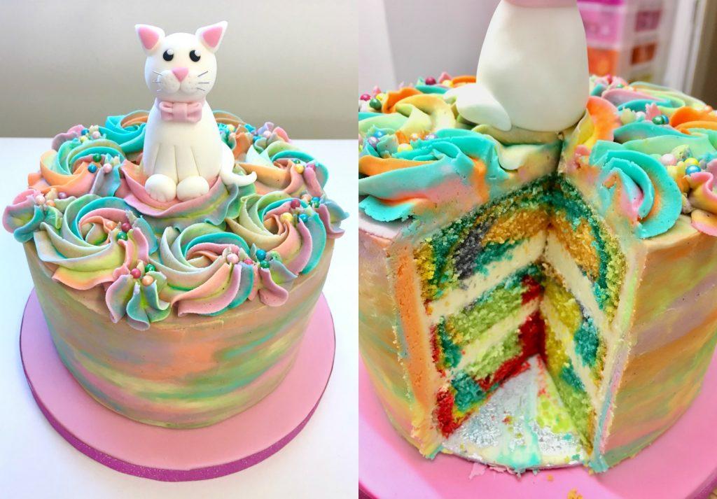 Rainbow Kitty Cake Happy Birthday Ciara She Who Bakes