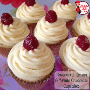 raspberry lemon white chocolate cupcakes