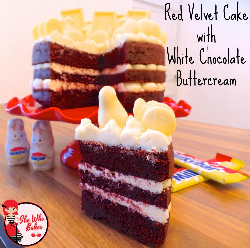 Red Velvet Cake with White Chocolate Buttercream Recipe
