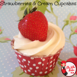 strawberries cream cupcakes 1