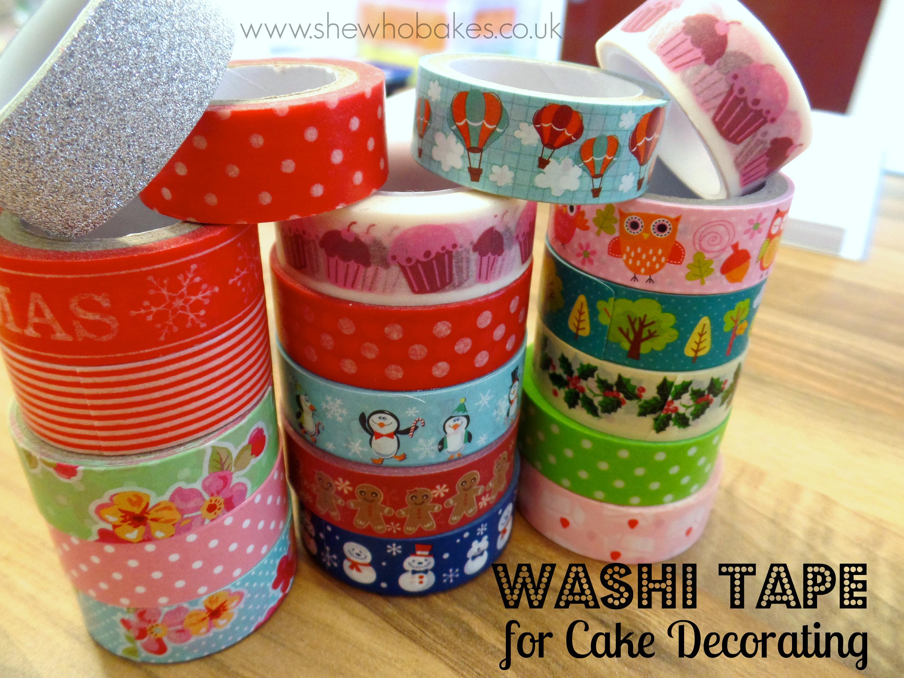 washi tape for cake decorating she who bakes