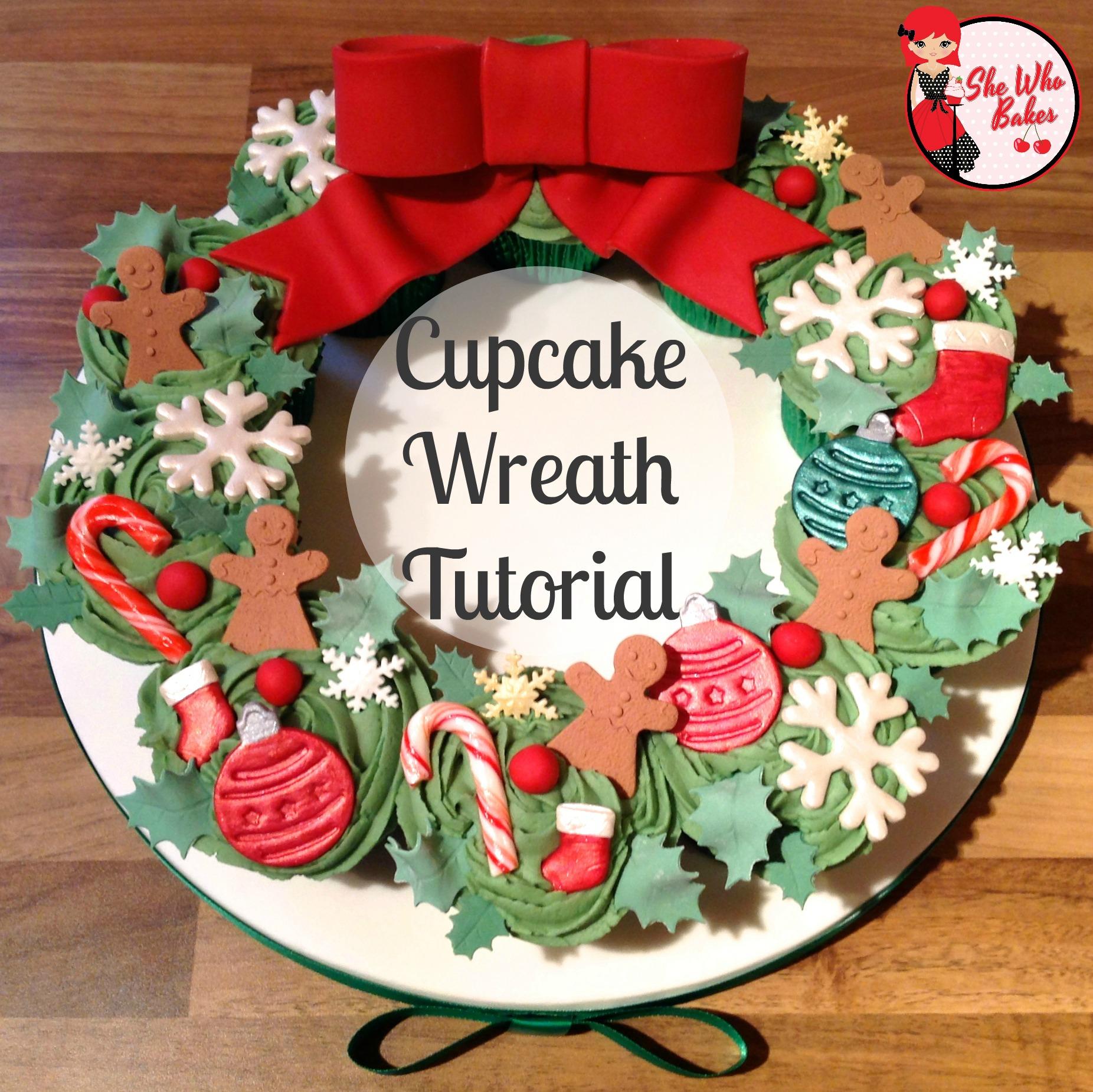 Cupcake Wreath Tutorial She Who Bakes
